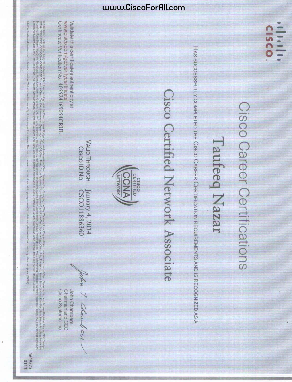 ccna certification passing receive marks 1000
